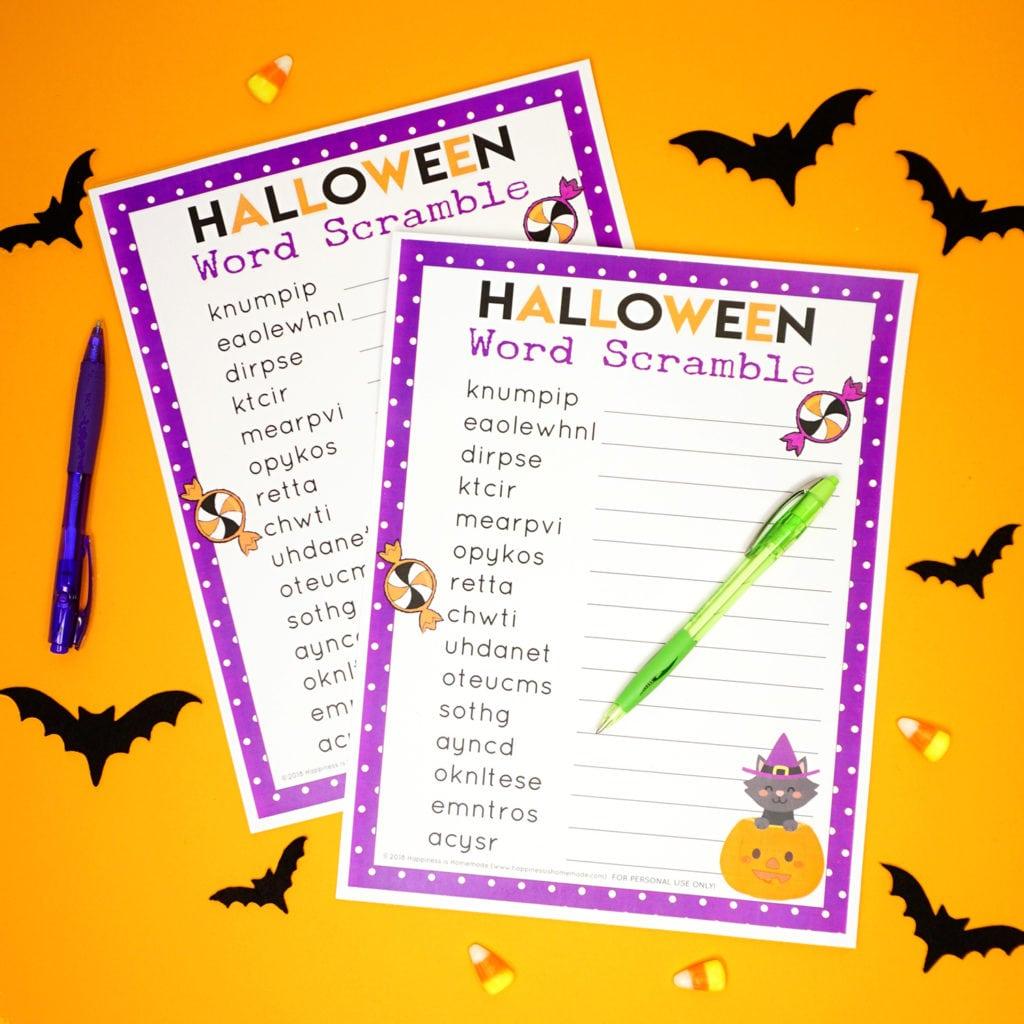Free Printable Halloween Games