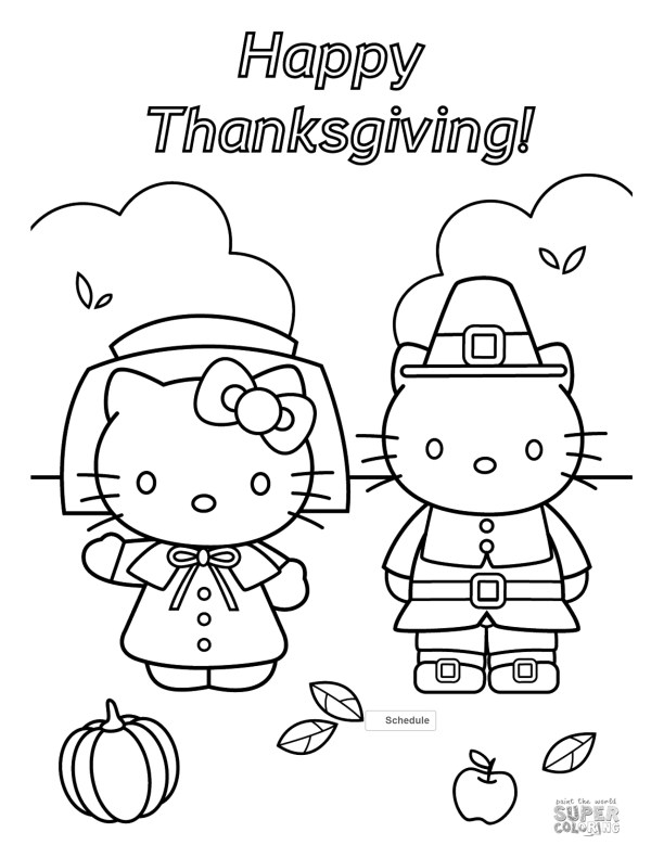 thanksgiving color pages free # 8