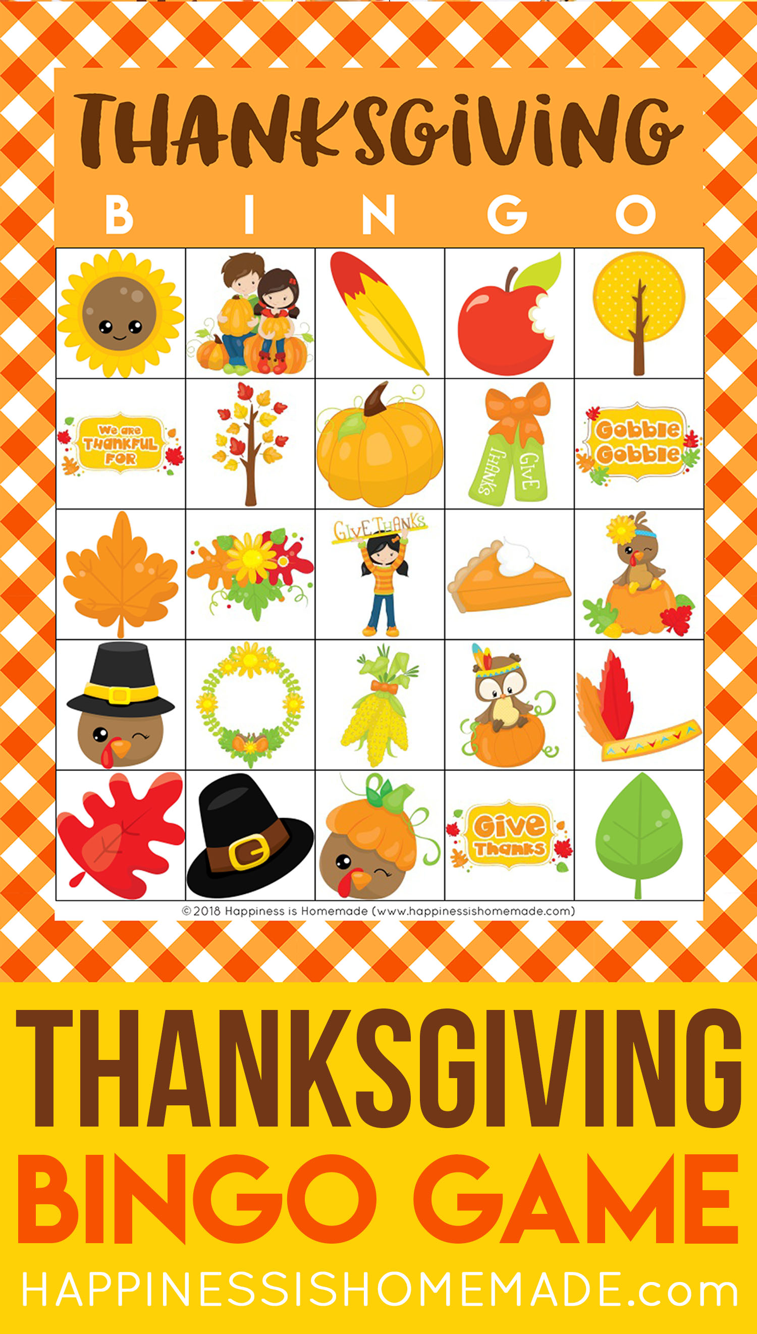 Free Printable Thanksgiving Bingo Cards