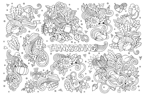 free coloring pages thanksgiving # 79