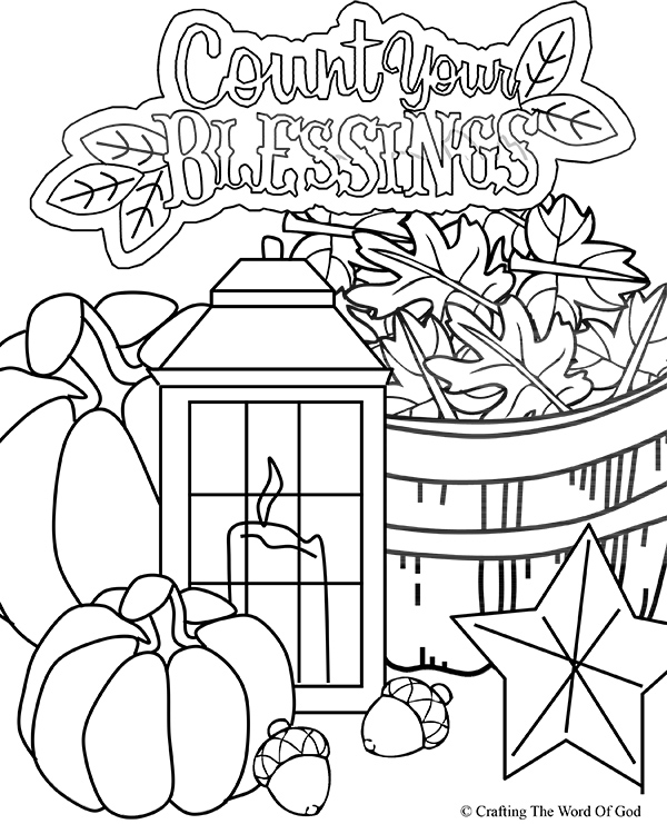 FREE Thanksgiving Coloring Pages For Adults & Kids - Happiness Is Homemade