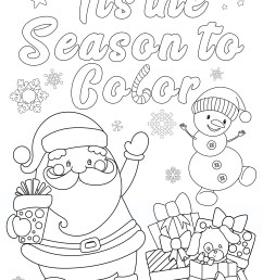 FREE Christmas Coloring Pages for Adults and Kids - Happiness is Homemade [ 3300 x 2550 Pixel ]