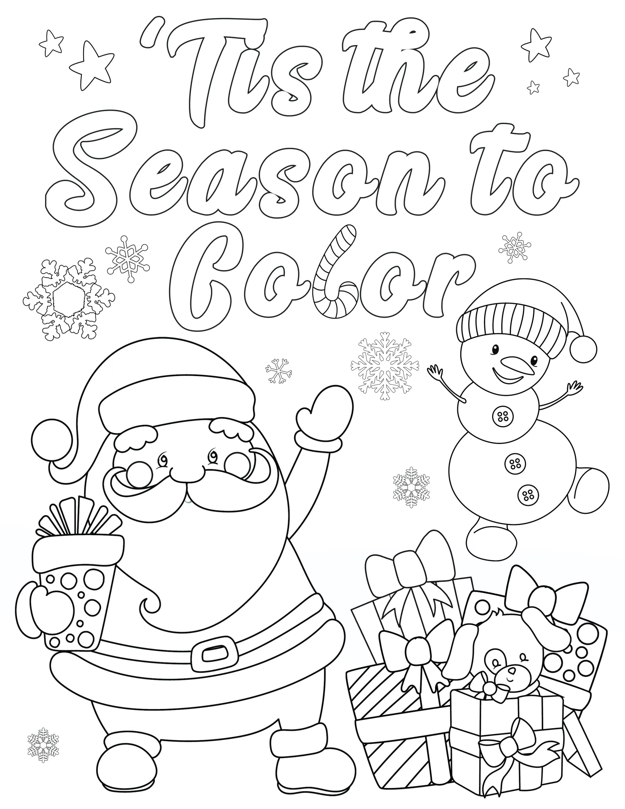 hight resolution of FREE Christmas Coloring Pages for Adults and Kids - Happiness is Homemade