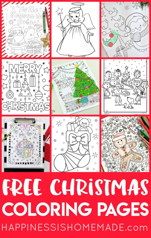 small resolution of FREE Christmas Coloring Pages for Adults and Kids - Happiness is Homemade