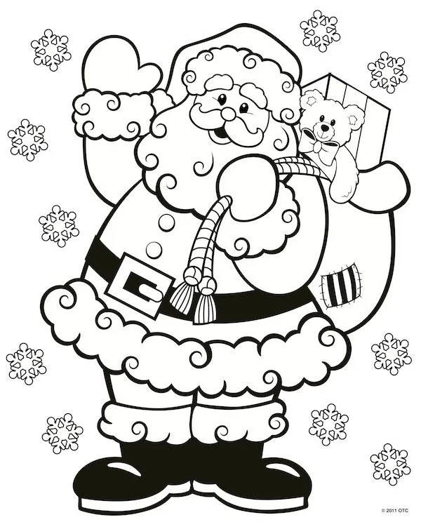 coloring christmas pages # 2