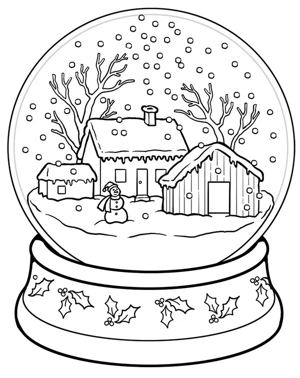 christmas coloring book pages # 9