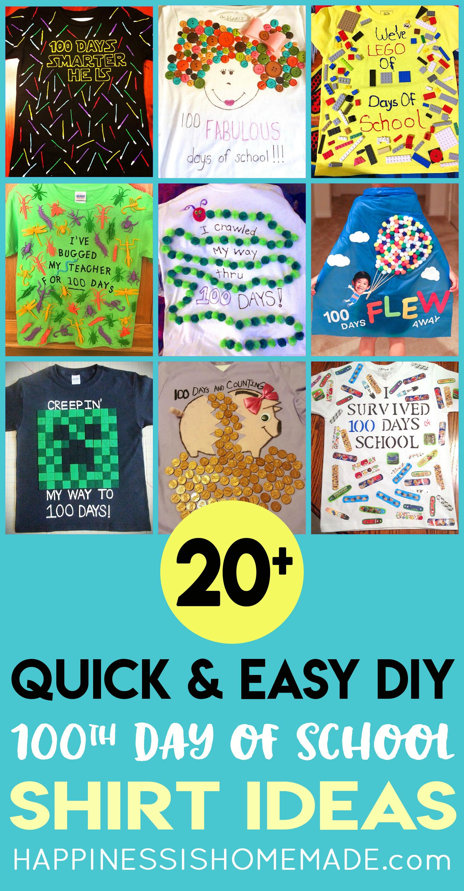 Easy 100 Days Of School Shirt Ideas