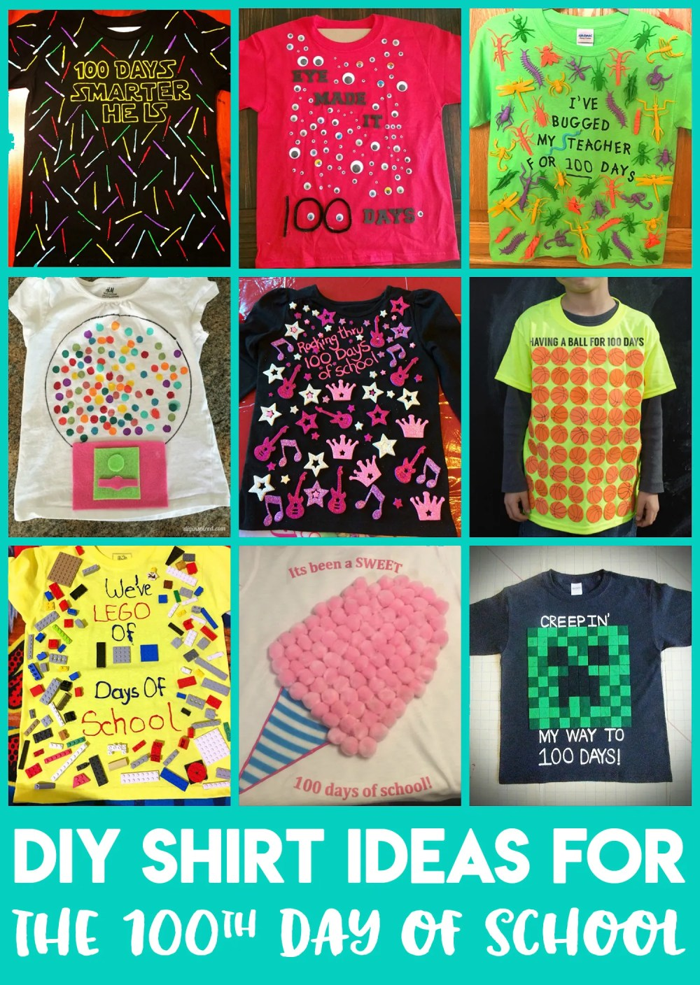 medium resolution of Easy 100 Days of School Shirt Ideas - Happiness is Homemade