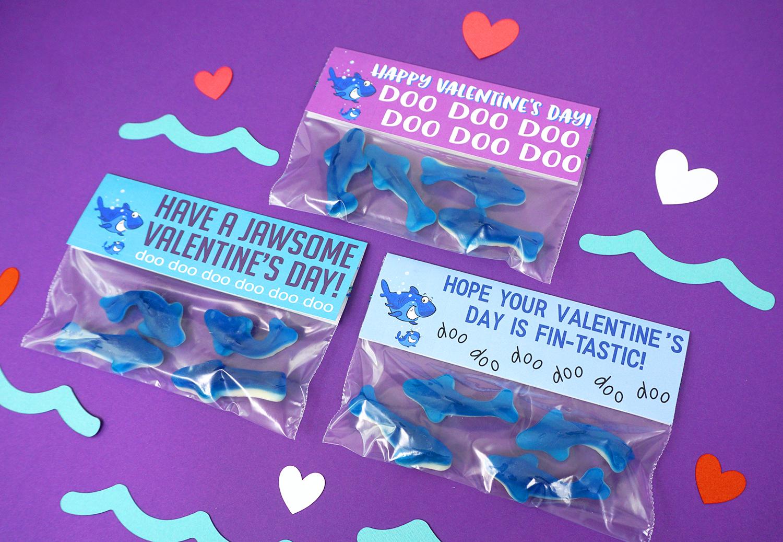 Cute Printable Shark Valentines Cards