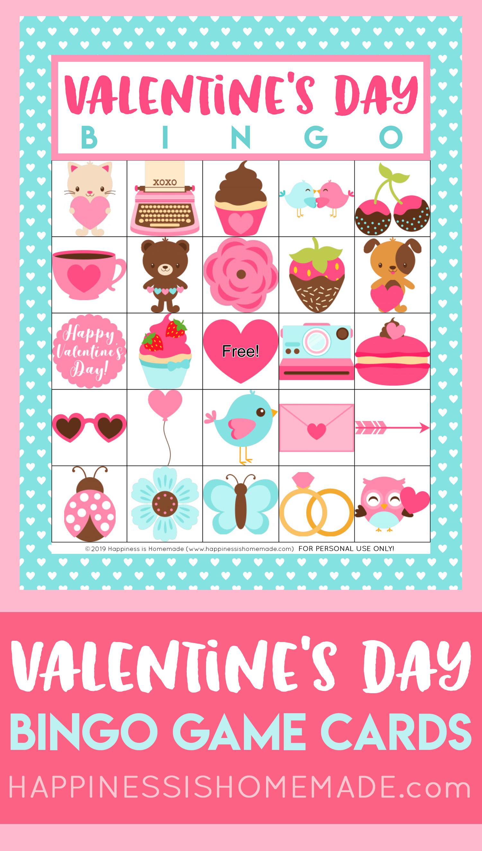 Free Printable Valentine Bingo