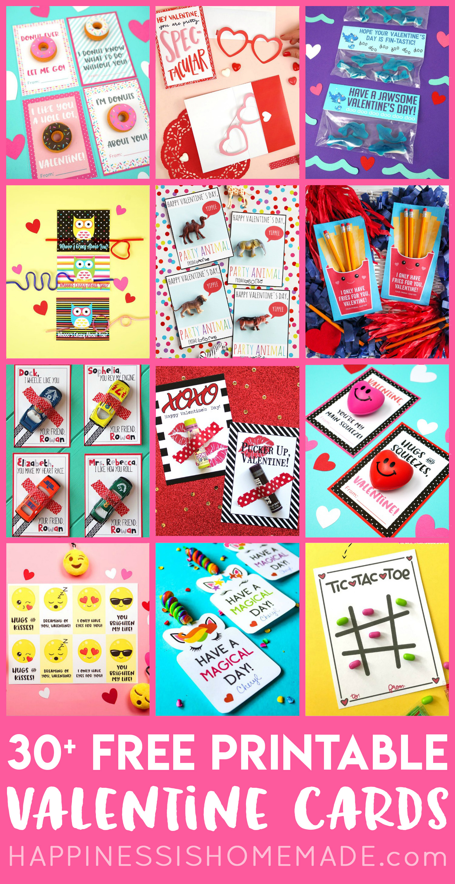 30 Free Printable Valentine Cards for Valentine's Day