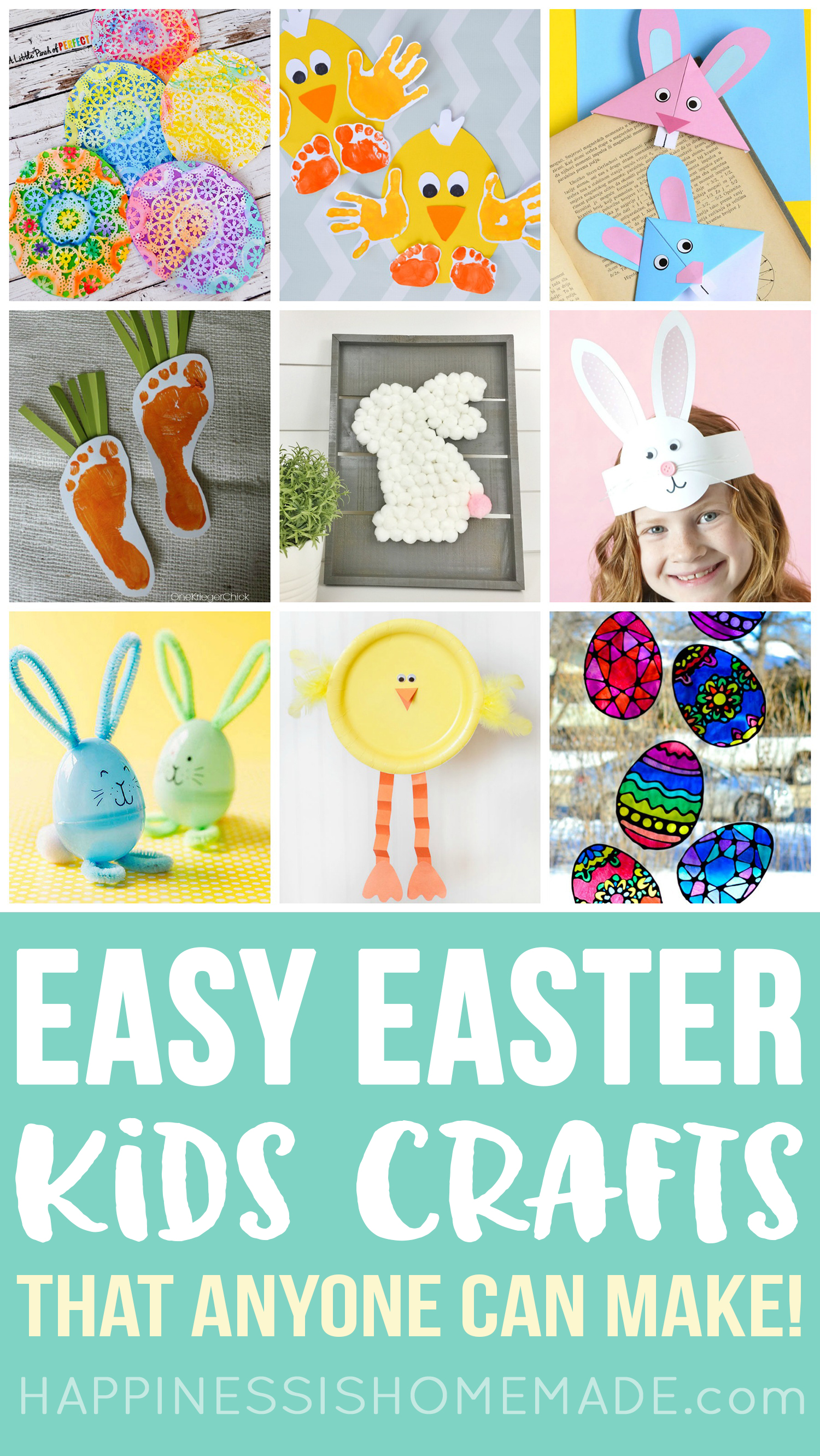 30 Easy Easter Crafts For Kids