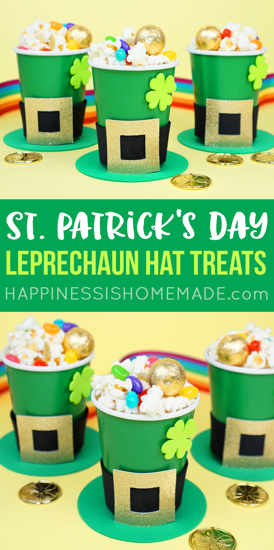 St. Patrick's Day Leprechaun Hat Treat Cups