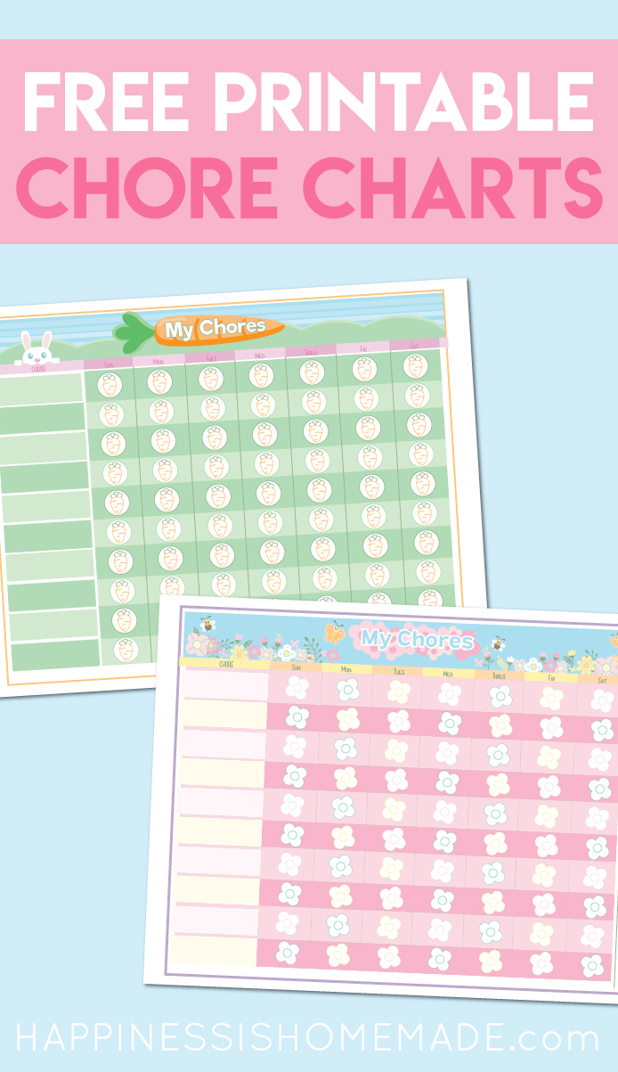 photograph relating to Printable Screen Time Charts named Printable Chore Record in the direction of Generate Show Year - Contentment is Do-it-yourself
