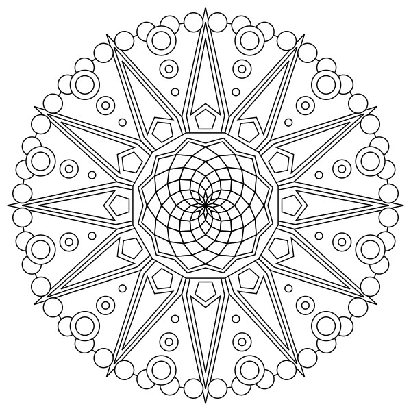 Mandala Coloring Pages For Adults & Kids - Happiness Is Homemade
