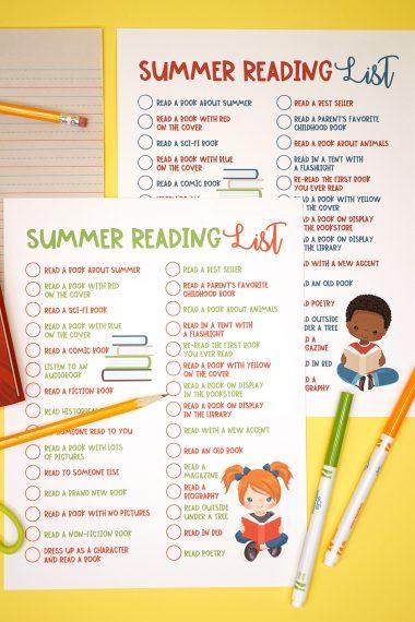 Summer reading list for kids.