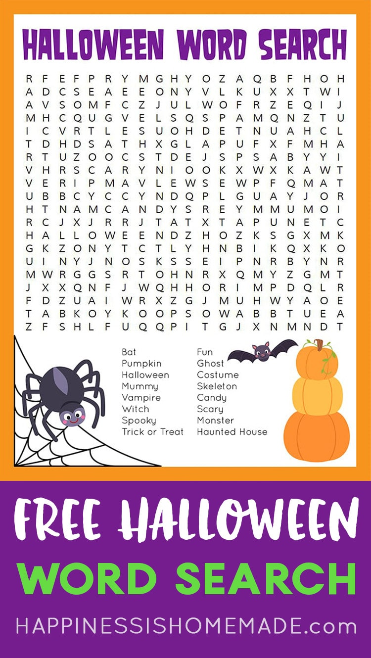 Free Halloween Word Search Printable Puzzle