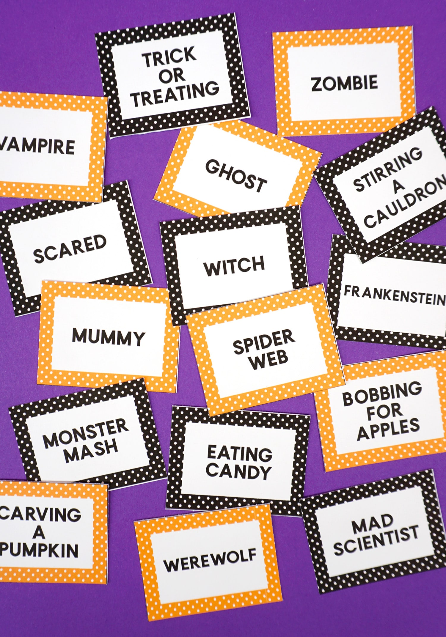 Halloween Charades Game Cards Happiness Is Homemade