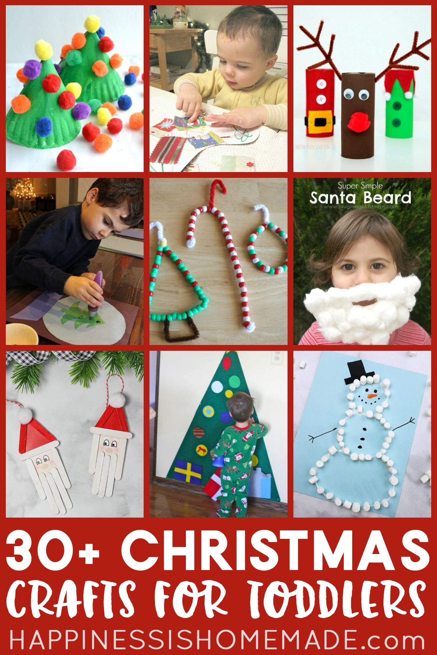30 Christmas Crafts For Toddlers And Preschoolers