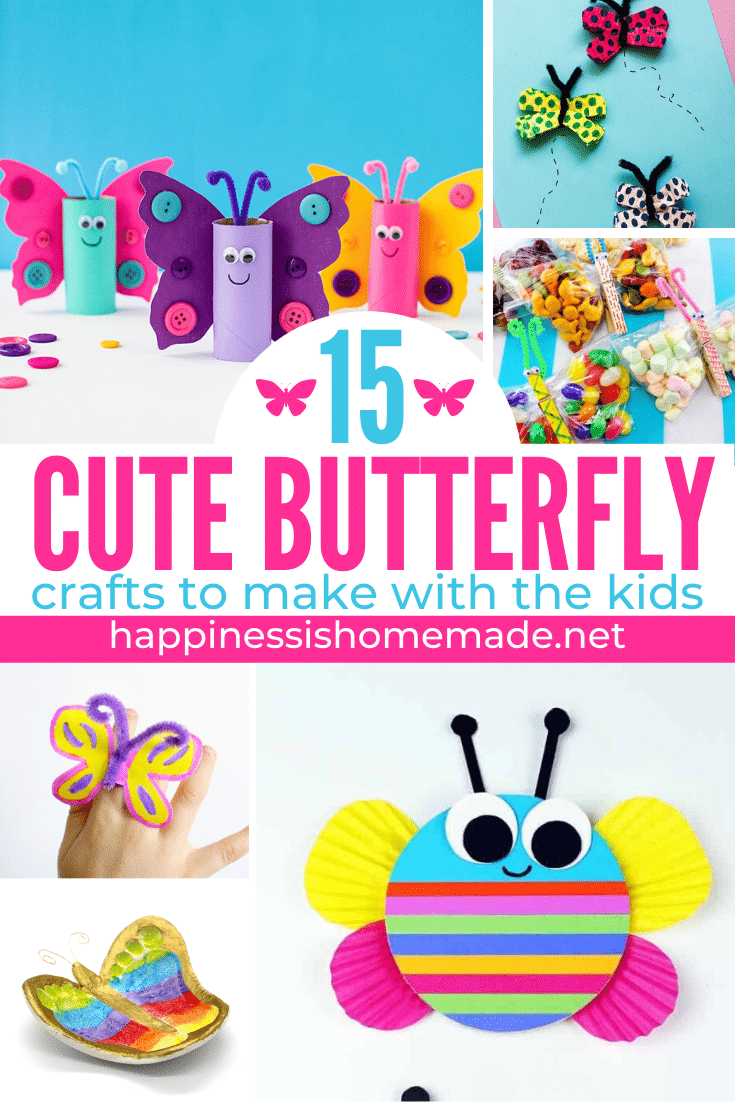 50 Quick Easy Kids Crafts That Anyone Can Make Happiness Is Homemade
