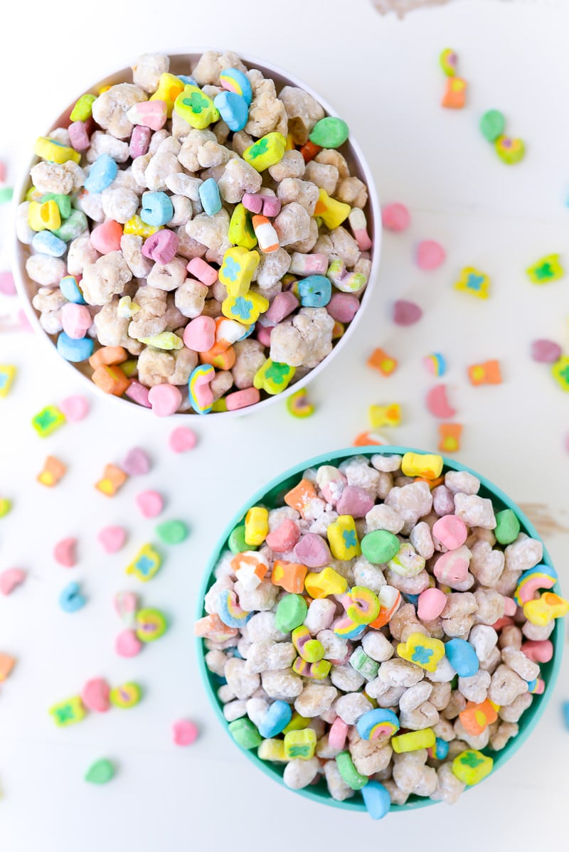 Lucky Charms Muddy Buddies Mix with Marshmallows