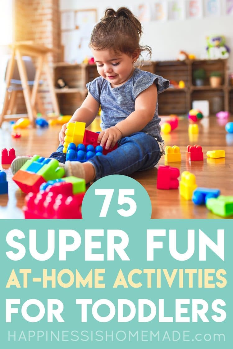 20 Fun Toddler Activities at Home   Happiness is Homemade