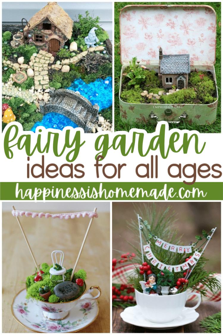 Fairy garden ideas for all ages featuring multiple photos fairy garden ideas