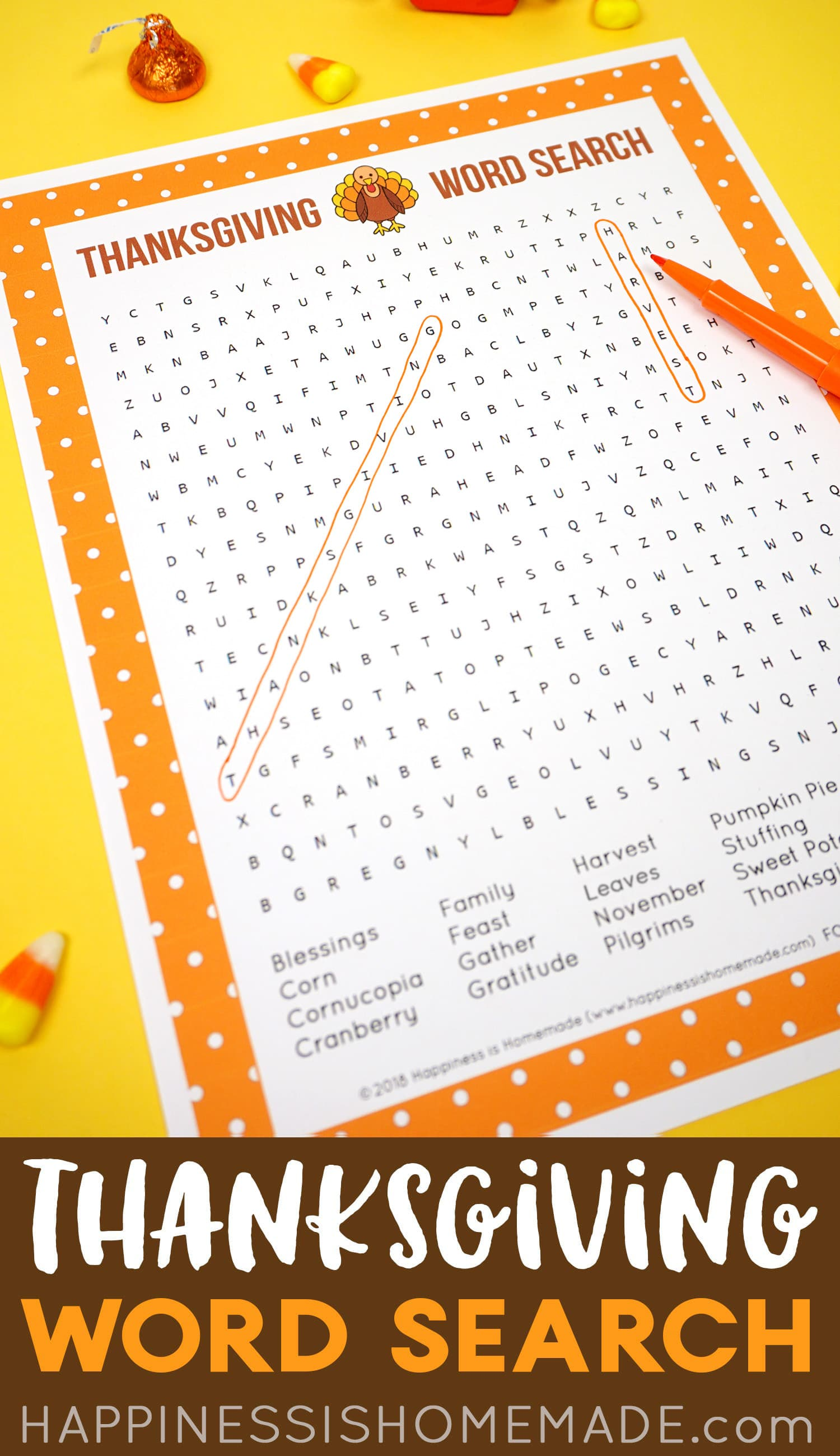 Free Printable Thanksgiving Word Search Puzzle Graphic