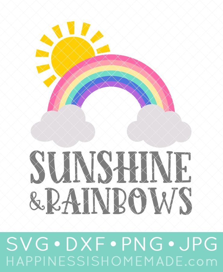 """Sunshine and Rainbows"" graphic for SVG file"
