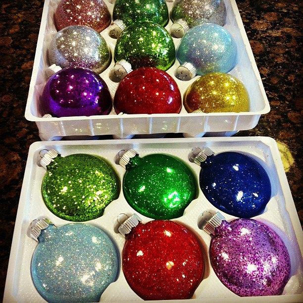 Christmas Glitter Ornaments