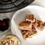 Salty Sweet Cashew Bars - an Ageless Diet™ Recipe