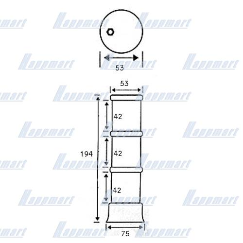 1/2/3 Layers Slot Tower Light