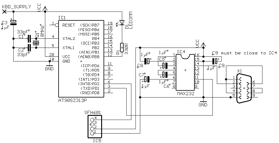 serial to parallel converter using max232