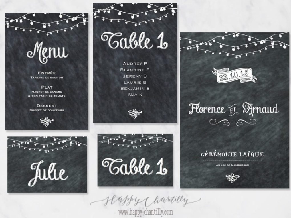 Faire-part mariage Ardoise vintage & cartes assorties – Happy ...