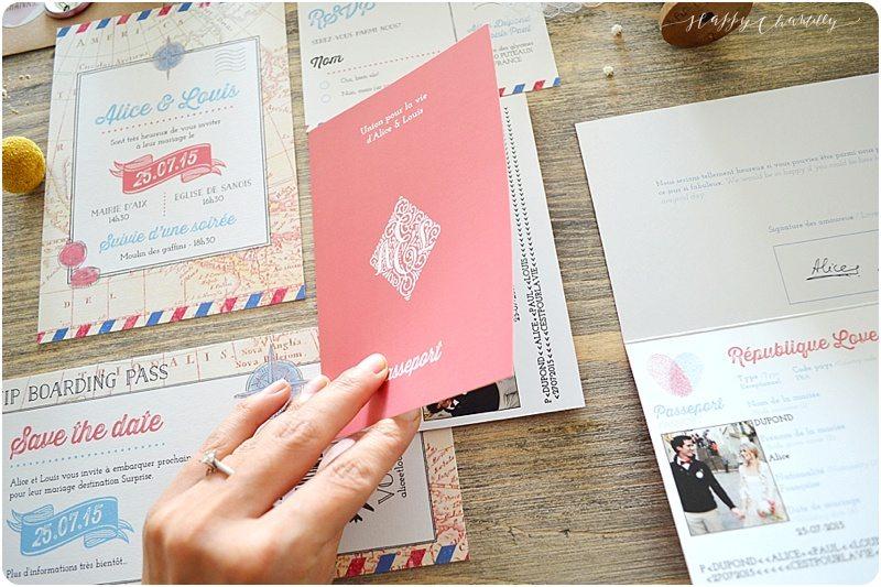 faire part mariage voyage passeport billet d avion happy. Black Bedroom Furniture Sets. Home Design Ideas