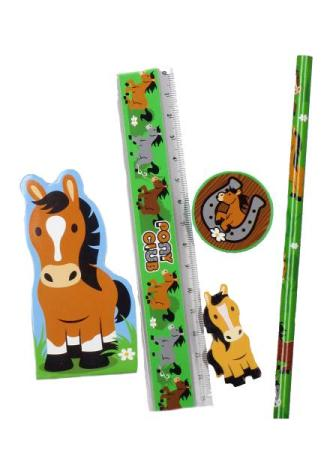 Schreibset Pferd  Mitgebsel Kindergeburtstag  Happy