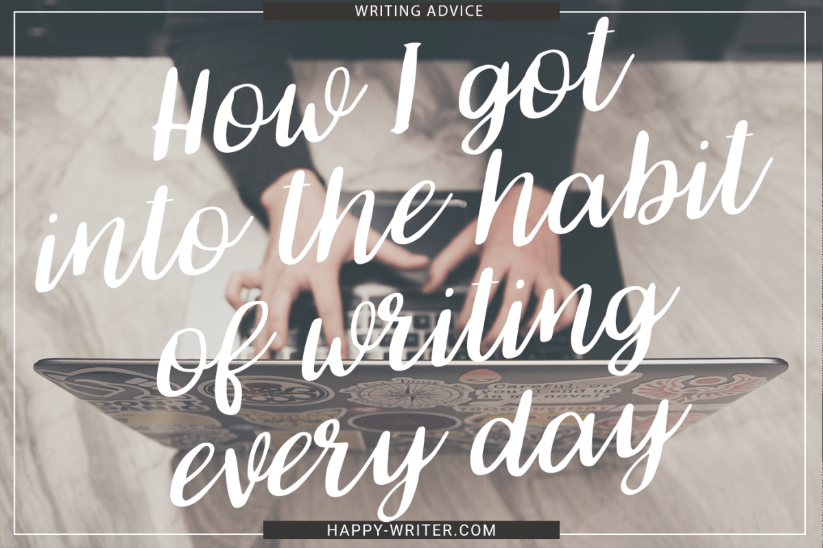 Break Your Writing Into Bite-Sized Chunks | How I Got In the Habit of Writing Everyday