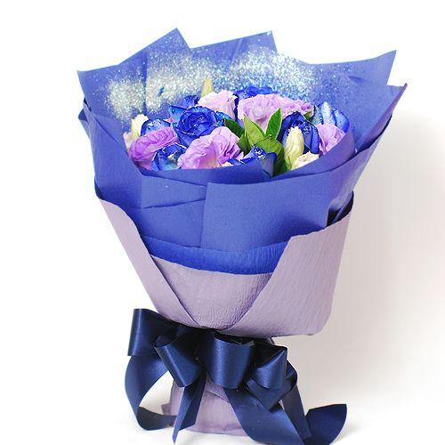 首選男友生日禮物 愛情精靈藍玫瑰花束 : 有禮真好禮物專賣店