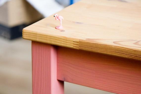 happy acorn roze woensdag tafel diy