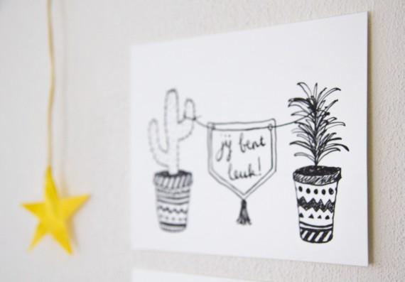 happy acorn ninamaakt webshop etsy kaarten handgemaakt