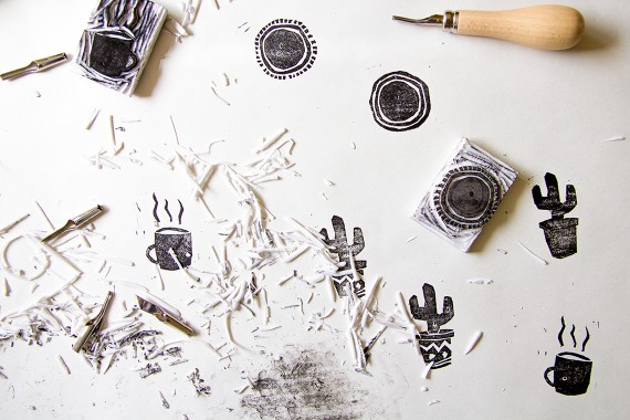 happy acorn stempel diy knutselen inkt