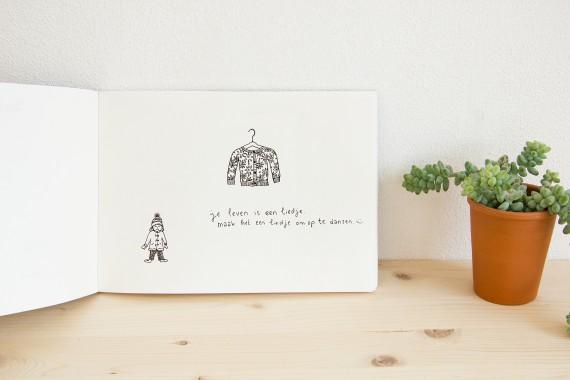 happy acorn winterlijstje tekeningetje ninamaakt
