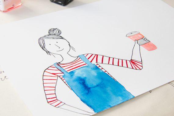 happy acorn ninamaakt daily drawings