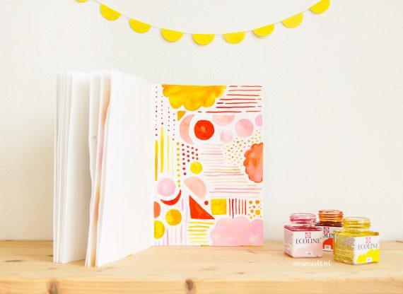 happy acorn ninamaakt schetsboek