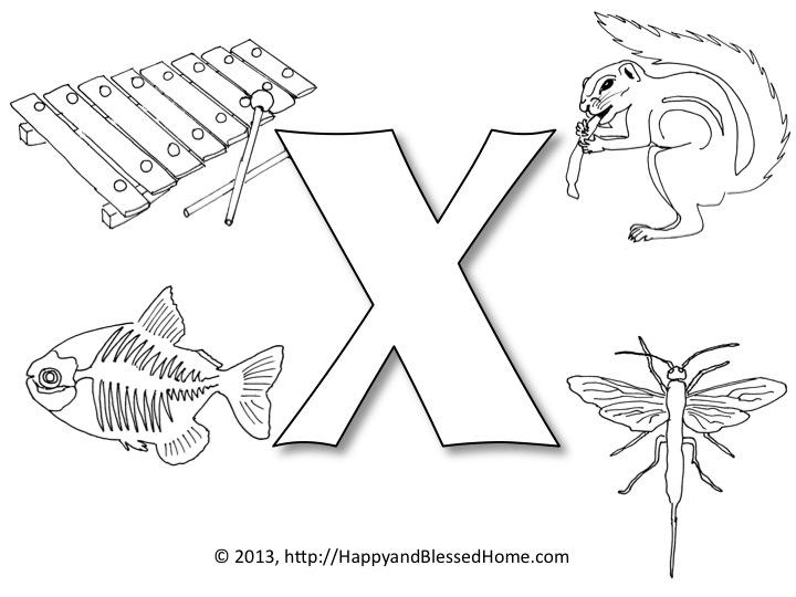 letter x preschool - 720×540