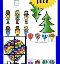 Hot Air Balloon Activity Pack for Kids and Fun Hot Air Balloon Recipe [ 1800 x 650 Pixel ]