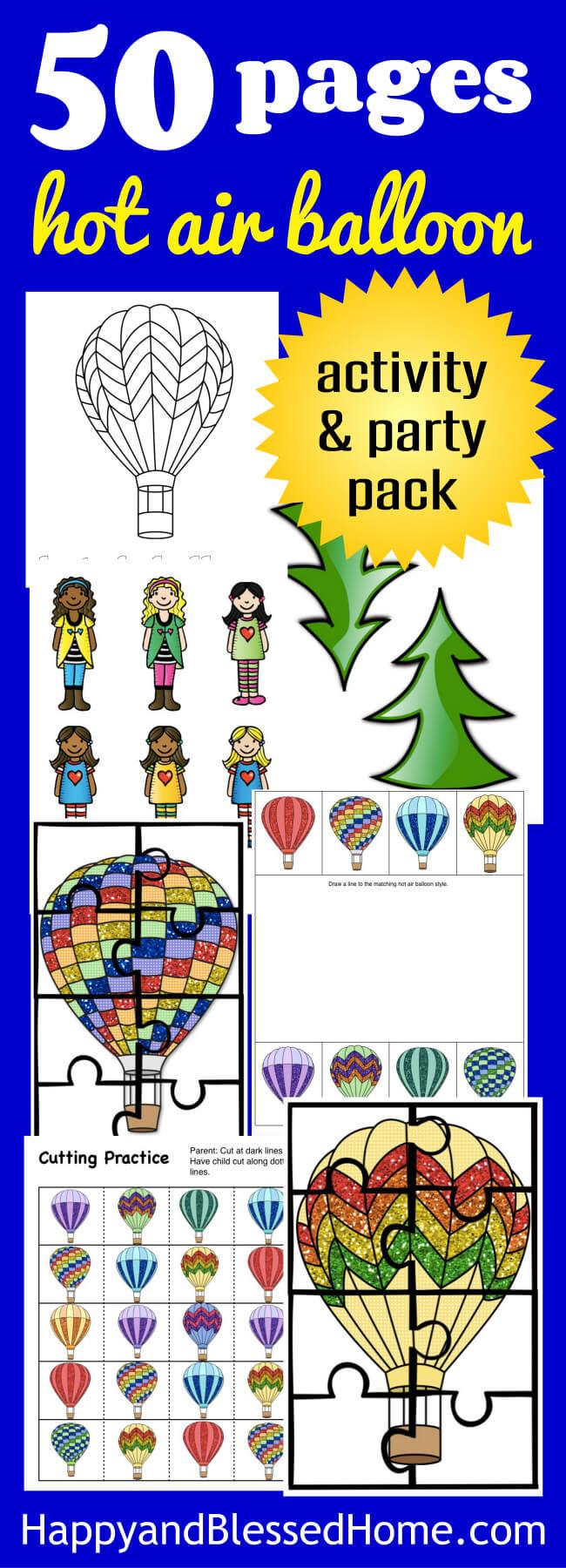 medium resolution of Hot Air Balloon Activity Pack for Kids and Fun Hot Air Balloon Recipe