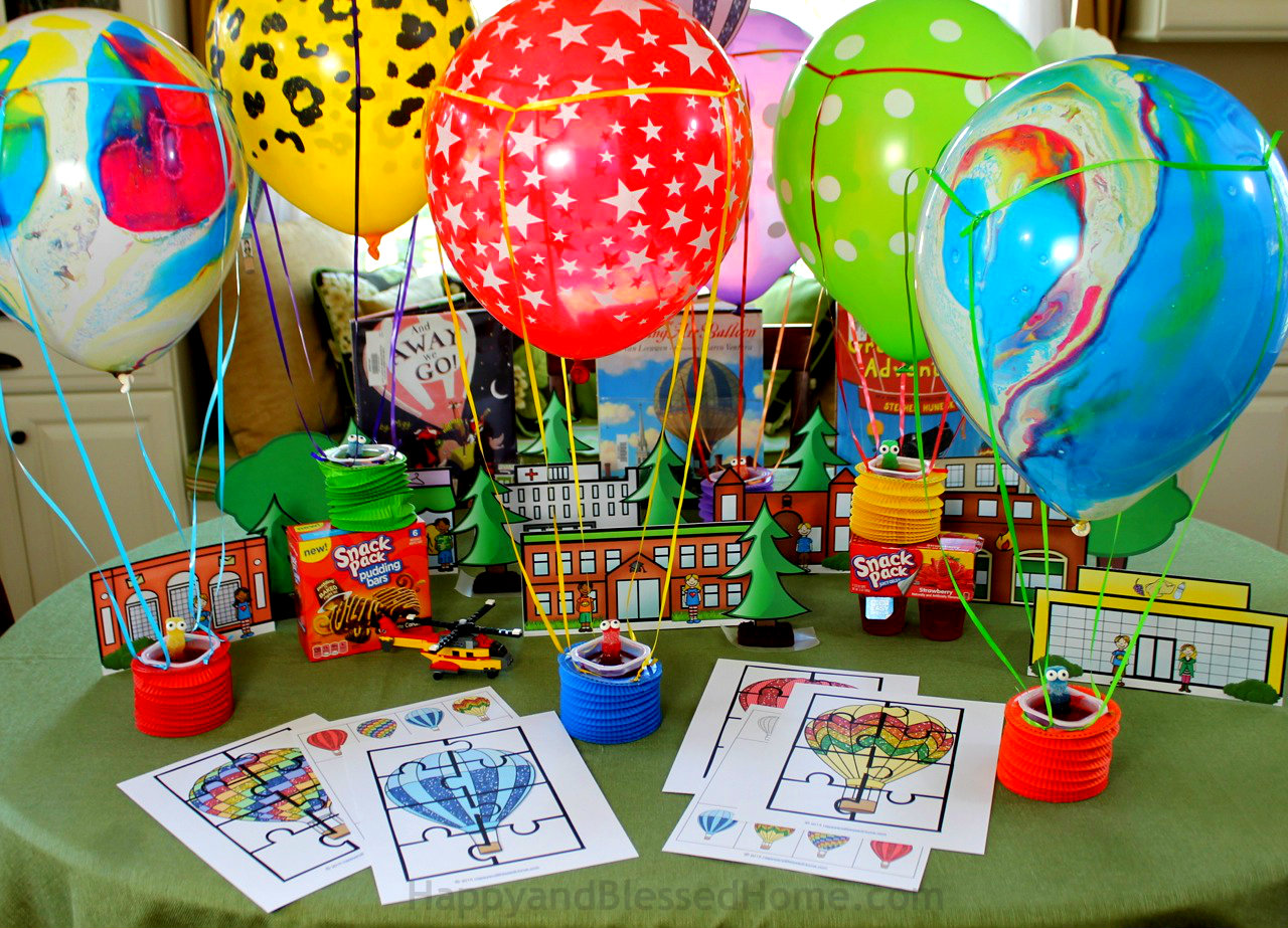 Hot Air Balloon Activity Pack For Kids And Fun Hot Air