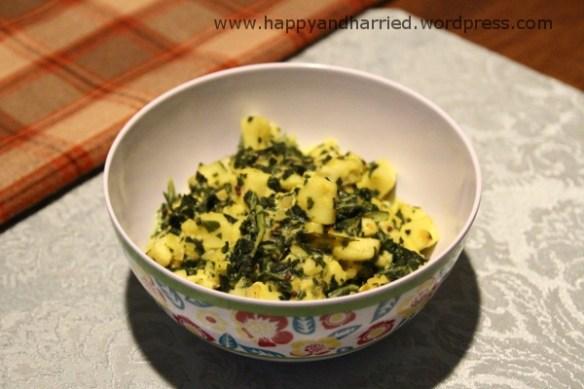 Kale with paneer 2