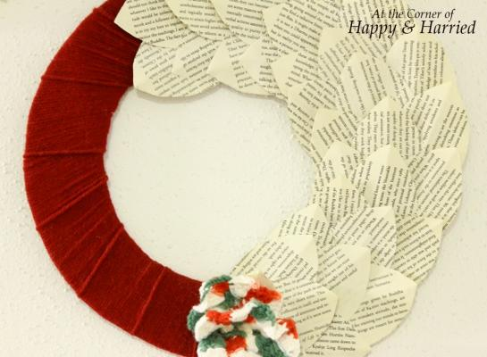 Book Page Wreath 5
